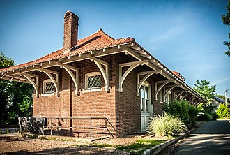 The Plains, Virginia - Image: Train Depot brick 8394