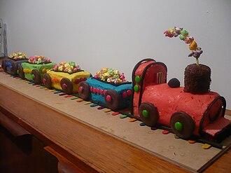 Australian Women's Weekly Children's Birthday Cake Book - Image: Train Cake from AWWCBCB