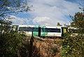 Train crosses the railway bridge across the Shallows, Haysden Country Park - geograph.org.uk - 1527311.jpg