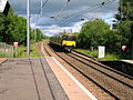 Train for Largs entering Dalry station.JPG