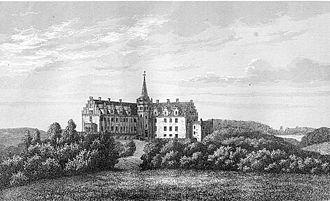 Enevold Kruse - Tranekær castle - old etching