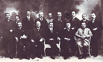 Ștefan Cicio Pop - The Transylvanian Directory in 1918; Cicio Pop is seated, second from left.