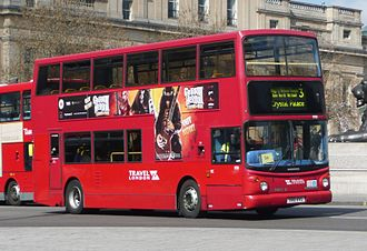 Travel London - Alexander ALX400 bodied Dennis Trident 2 on route 3 at Trafalgar Square in April 2008