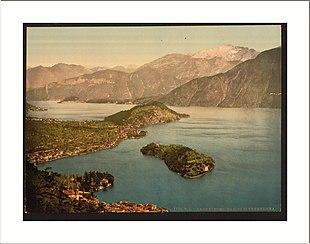 Bellagio, la penisola di Lavedo e l'isola Comacina