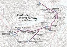 Subway Map In Boston.Tremont Street Subway Wikipedia