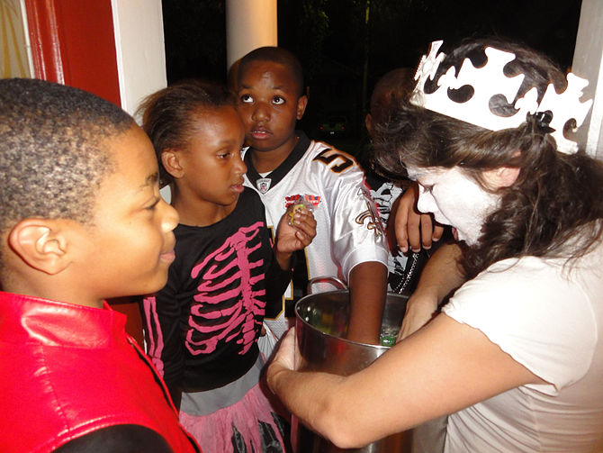 Halloween in Mid-City New Orleans. Xy lets the...