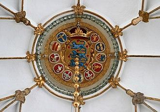 Coat of arms of Denmark - Image: Trinitatis Kirke Copenhagen ceiling deco