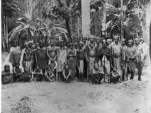 Arawak - Arawak people gathered for an audience with the Dutch Governor in Paramaribo, Suriname, 1880