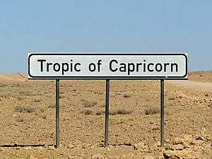 Tropic of Capricorn sign close to the ... well...