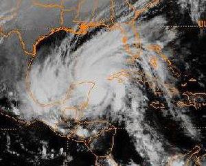 Tropical Storm Keith (1988) - Tropical Storm Keith at Mexican landfall