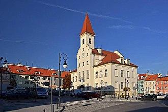 Trzebnica - Trzebnica town hall and market square