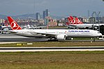 Turkish Airlines, TC-LKC, Boeing 777-3U8 ER (30358217717).jpg
