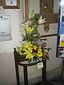 Twisty floral display at entrance to St Faith's Flower Festival - geograph.org.uk - 864040.jpg