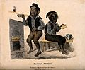 Two chimney sweeps, one of them is feeling ill and taking me Wellcome V0011152.jpg