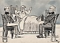 Two doctors recommending different remedies to an irate patient Wellcome V0011629.jpg