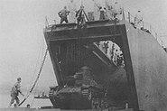 Type95 HaGo departure from landing ship No149