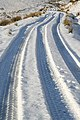 Tyre tracks in the snow - geograph.org.uk - 1074299.jpg