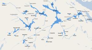 Tyresån Lake System - Image: Tyrestaåns sjösystem