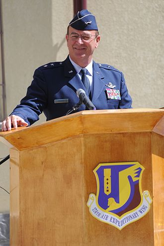 Steven E. Foster - Image: U.S. Air Force Maj. Gen. Steven Foster, assistant to the 9th Air Force and U.S. Air Forces Central Commanders, speaks during a ribbon cutting ceremony for the Women's Development Center Aug. 25, 2010 100825 F RX342 093