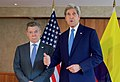 U.S. Secretary of State John Kerry Addresses Reporters After Bilateral Meeting With Colombian President Juan Manuel Santos (26346474933).jpg