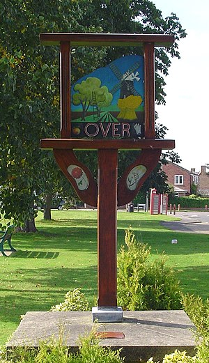 Over, Cambridgeshire - Signpost in Over