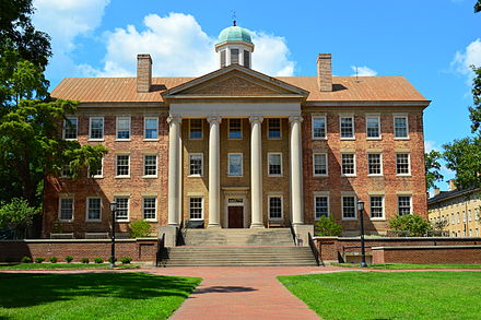 South Building, administrative offices of the chancellor and College of Arts and Sciences UNC South Building.JPG