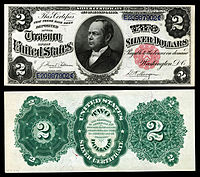 $2 Silver Certificate, Series 1891, Fr.246, depicting William Windom