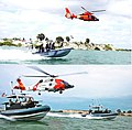 USCG helicopters and transportable port security boats, at Guantanamo, circa 2002 and 2015.jpg