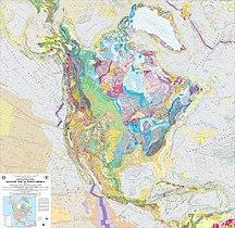 North America-Geology-USGS Geologic Map of North America