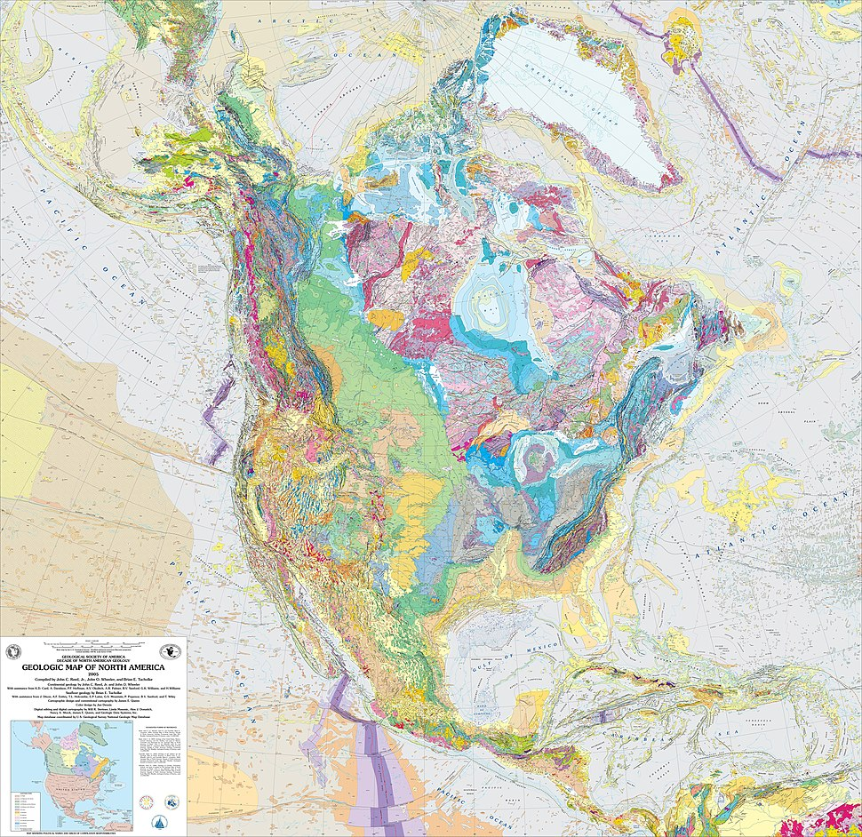 USGS Geologic Map of North America
