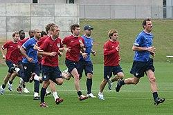 Entrenamiento de la selección nacional de los Estados Unidos.