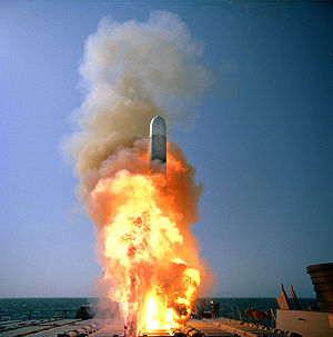 Launch of a Tactical Tomahawk cruise missile f...