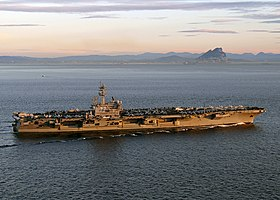 USS George H. W. Bush transits the Strait of Gibraltar. (12841095713).jpg