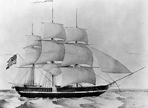 USS Princeton, lithograph by N. Currier, New York, 1844.