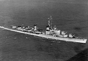 USS Theodore E. Chandler (DD-717) underway, circa in 1947
