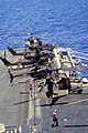 US Army helicopters on forward flight deck of USS Eisenhower (CVN-69) off Haiti in 1994.JPEG