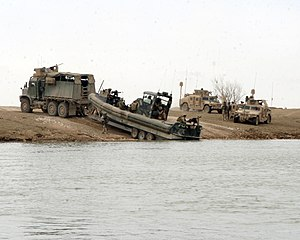 Small unit riverine craft - U.S. Marines launch a SURC in Iraq
