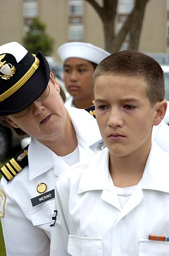 Navy League Cadet Corps - A NLCC cadet stands inspection.