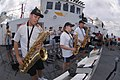 US Navy 060507-N-6501M-008 Members of the Navy Showband, perform for Sailors aboard the Military Sealift Command (MSC) hospital ship USNS Mercy (T-AH 19) as the ship's crew enjoys an afternoon of good food and music during a st.jpg