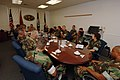 US Navy 060829-N-5758H-188 Chief of Naval Operations (CNO) Adm. Mike Mullen meets with Navy Expeditionary Combat Command (NECC) Command Master Chiefs during a visit of Riverine Group One (RIVRON-1).jpg