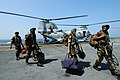 US Navy 061025-N-0209M-002 Indian Soldiers assigned to the 9th Battalion of the Sikh Infantry arrive aboard USS Boxer (LHD 4) to participate in Malabar 2006.jpg