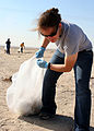 US Navy 081119-N-6764G-012 Hospital Corpsman 3rd Class Nicole Peckwith participates in a community relations project collecting trash.jpg