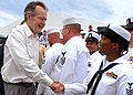 US Navy 090506-N-3013W-012 Former President of the United States George H. W. Bush greets sailors from Naval Air Station Jacksonville at the Players Championship at TPC Sawgrass during Military Appreciation Day.jpg