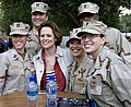 US Navy 100128-N-8825R-364 Actress Sigourney Weaver poses with Sailors while visiting Naval Support Activity Bahrain to help promote the movie Avatar.jpg