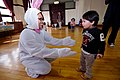 US Navy 100403-N-3283P-086 Information Systems Technician 2nd Class Lisa Boutxanyho, assigned to Commander, U.S. Naval Forces Japan, plays the Easter Bunny for children.jpg