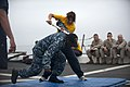 US Navy 110816-N-PB383-162 A Sailor takes down a simulated attacker.jpg