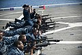US Navy 110817-N-PB383-010 Sailors take aim at their targets during M16 service rifle qualifications aboard the San Antonio-class amphibious transp.jpg