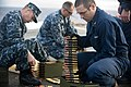 US Navy 111117-N-PB383-025 Sailors aboard the amphibious transport dock ship USS New Orleans (LPD 18) organize ammunition during a .50-caliber live.jpg