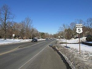U.S. Route 5 - Northbound in Longmeadow, Massachusetts