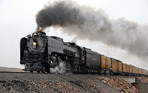 Union Pacific 844 - UP 844 at Painted Rocks, Nevada, on April 15, 2009
